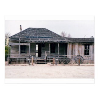 Judge Roy Bean Courthouse and Jail Replica Postcard