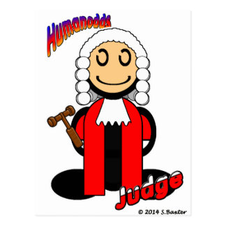 Judge (with logos) postcard