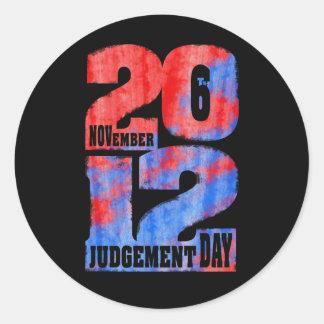 Judgement Day Classic Round Sticker