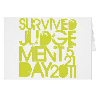 Judgement Day Survivor Greeting Card