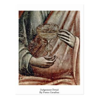 Judgement Detail By Pietro Cavallini Postcard