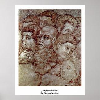 Judgement Detail By Pietro Cavallini Posters