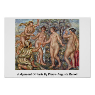 Judgement Of Paris By Pierre-Auguste Renoir Posters