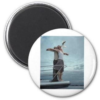 Judgemental Ostrich!!! 6 Cm Round Magnet