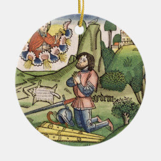Judges 6 36 Gideon puts out the fleece, from the ' Ceramic Ornament