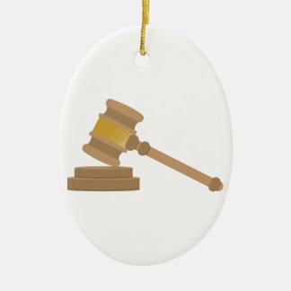 Judges Gavel Ceramic Ornament