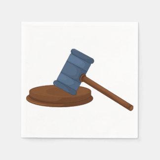 Judges Gavel Paper Napkins