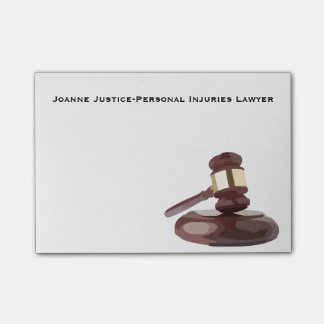 Judge's Gavel Post-It Notes
