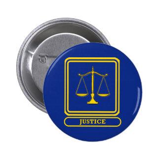 Judges Justice Shield 6 Cm Round Badge