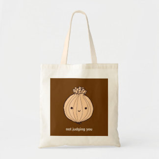 """Judgmental Onion"" Reusable Canvas Tote Bag"