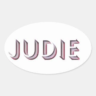 Judie sticker name