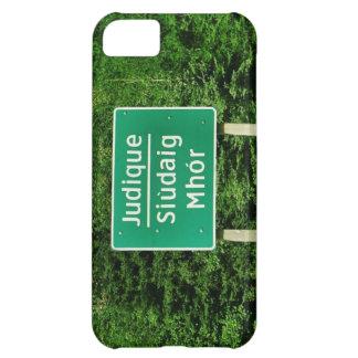 Judique, Cape Breton: English/Gaelic Road Sign iPhone 5C Cases