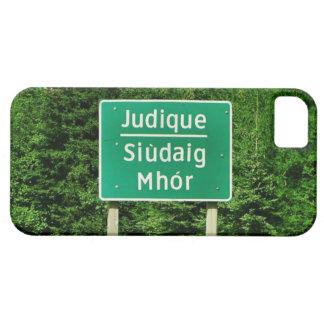 Judique, Cape Breton: English/Gaelic Road Sign iPhone 5 Case
