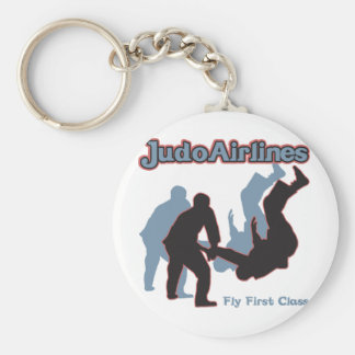 Judo Airlines Basic Round Button Key Ring