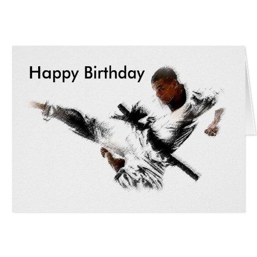 Judo Happy Birthday Greeting Card Zazzle