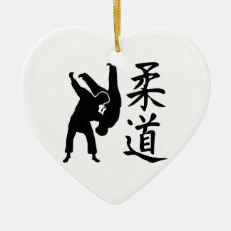 Judo kanji ceramic ornament