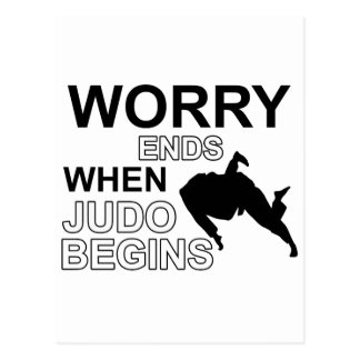 Judo T shirt Design Postcard