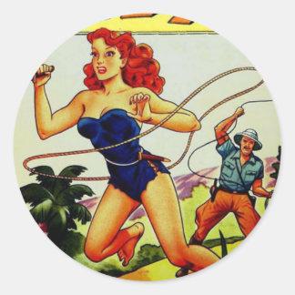 Judy of the Jungle Classic Round Sticker