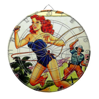 Judy of the Jungle Dartboard