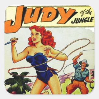 Judy of the Jungle Square Sticker
