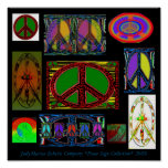 JudyMarisa Eclectic Co.Peace Sign Collection 2009 Poster