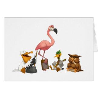 Jug Band O' Birds Note Card