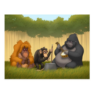 Jug Band of the Apes Postcard