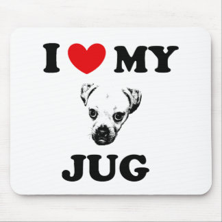 jug dog mouse pad
