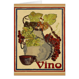 Jug of Red Vino Card