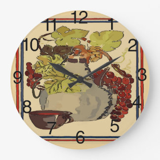 Jug of Red Vino Wall Clock
