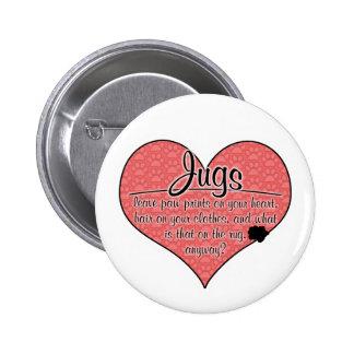 Jug Paw Prints Dog Humor Pins