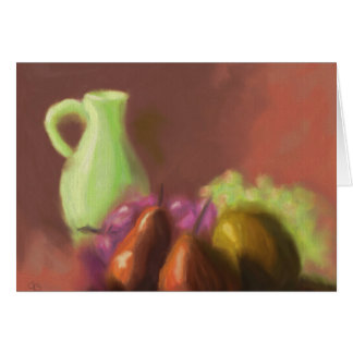 Jug with Fruit Greeting Card