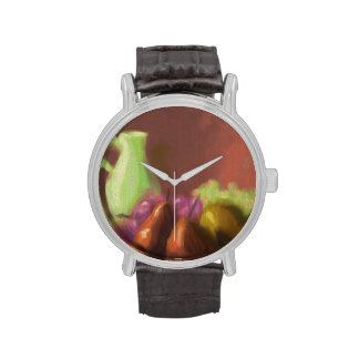 Jug with Fruit Wrist Watches