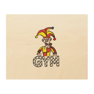 Juggle Gym Wood Wall Art