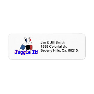 Juggle It Juggler Return Address Label