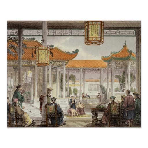 Jugglers Exhibiting in the Court of a Mandarin's P Poster