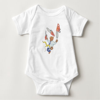 Juggling Bear Baby Suit Baby Bodysuit