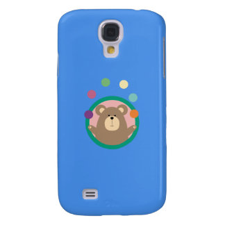 Juggling Brown Bear in circle Q1Q Galaxy S4 Cover
