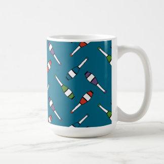 Juggling Club Toss Blue Basic White Mug