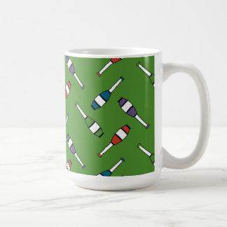 Juggling Club Toss Green Basic White Mug