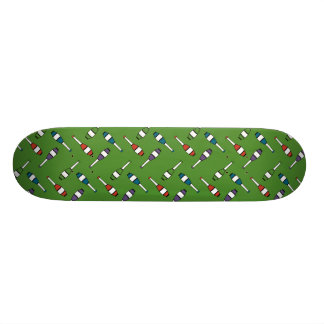 Juggling Club Toss Green Custom Skateboard