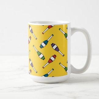Juggling Club Toss Yellow Basic White Mug