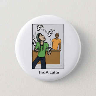 Juggling Coffees 6 Cm Round Badge