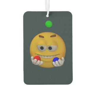 Juggling emoticon, animation style car air freshener