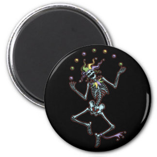 Juggling Jester Skeleton Magnets