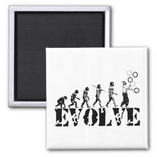 Juggling Juggler Juggle Evolution Sports Art Magnet