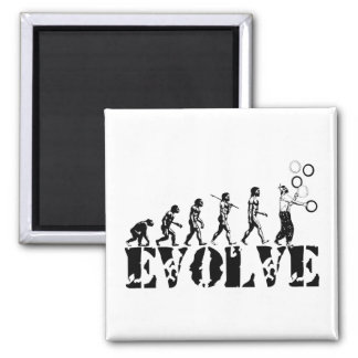 Juggling Juggler Juggle Evolution Sports Art Square Magnet