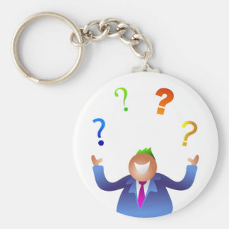 Juggling Questions Basic Round Button Key Ring