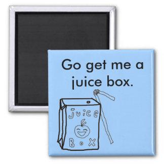 Juice Box Square Magnet