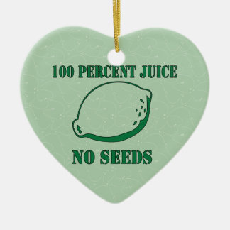 Juice No Seeds Ceramic Heart Decoration